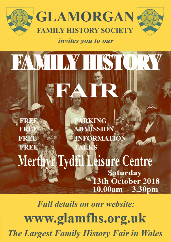 Annual Family History Fair - Saturday 13 October